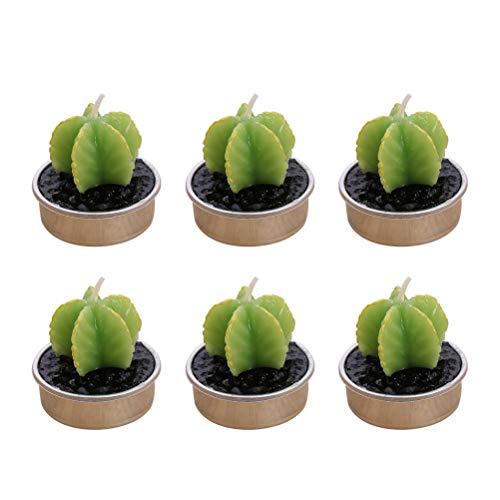 BESTONZON 6 stücke Simulation Pflanze Kerze/Kerze Se/Dekorative Kerze, Mini Carambola Form, Geeignet für Wohnkultur (4,2 x 4,2 x 4 cm)