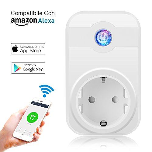MixMart Presa Intelligente Multifunzione Risparmia Energia Compatibile con Amazon Alexa e Google Assistant, Presa Smart Comandabile sia da Dispositivo Android che iOS