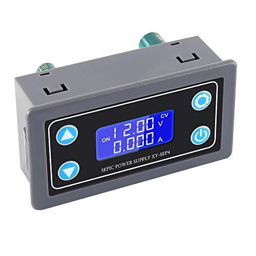 PEMENOL DC-DC Step Up/Down Stromversorgungsmodul LCD Automatisch Einstellbares Konstantspannung Konstantstrom Buck-Boost-Netzteilmodul mit Schutzhülle, Unterstützt das Solare Laden
