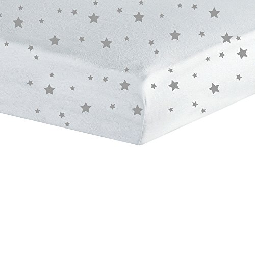 Trois Kilos Sept Spannbettlaken für Babybetten, Jersey, Sterne, 70x 140cm