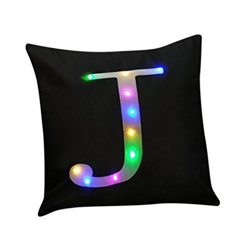 SetMei Die neue Farbe Lichter LED Lichter Weihnachts Kissen Fall werfen Spielzeug Zuhause Dekoration Kissenbezug 45cmX45cm (J) - Kissenbezug Licht
