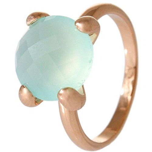 Bronzallure Damen-Ring Bronze Chalcedon grün Gr.54 (17.2) WSBZ00013LB-14