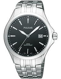 Pulsar Uhren PS9089X1 - Reloj analógico para mujer de acero inoxidable negro
