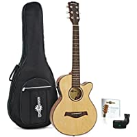 3/4 Single Cutaway Electro Acoustic + Accessory Pack