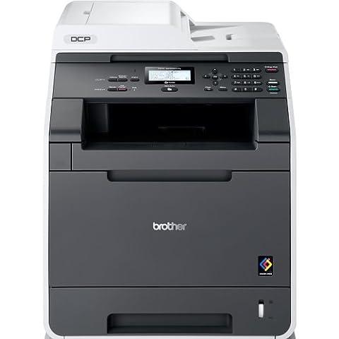 Brother DCP-9055CDN Farblaser-Multifunktionsgerät (Drucker, Kopierer, Scanner) weiß/garu