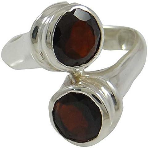 anillos de piedras preciosas granate de las mujeres anillo de plata de ley 925 joyería para ella