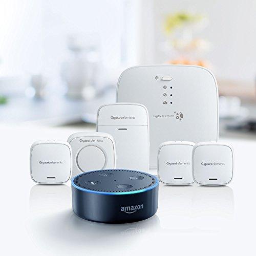 Gigaset elements Alarmanlage / elements alarm system M + Amazon Echo Dot (2. Generation), Schwarz