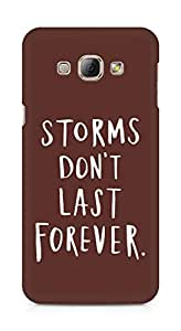 AMEZ storms dont last forever Back Cover For Samsung Galaxy A8