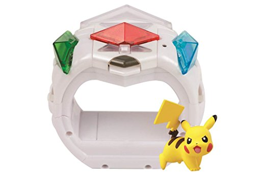 Ring mit Pikachu Figur & 3 Z-Kristalle ()