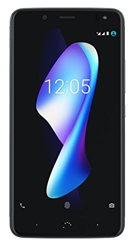 "BQ Aquaris V Plus - Smartphone de 5.5"" (WiFi, 3 GB de RAM, memoria interna de 32 GB, Bluetooth 4.2, cámara de 12 MP Big Pixel, dual nano-SIM, Android 7.1.2 Nougat) deep black"