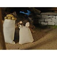 H/öhe 6 cm Gef/üllte Mehlsack aus Stoff F/ür Puppenstube oder Weihnachtskrippe