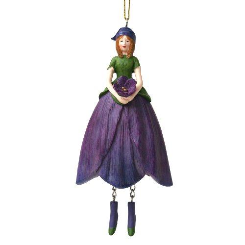 ROSEMARIE SCHULZ Heidelberg Veilchen Blumen Mädchen zum Hängen Flower Fairy Figur Dekofigur Blumenfigur Skulptur Blumenkinder