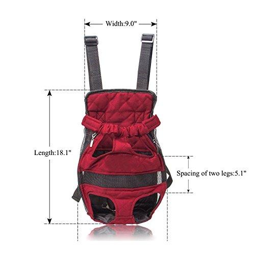 Imagen de  de viaje transportín a la espalda bolso para llevar mascotas perros y gatos, color vino tinto alternativa