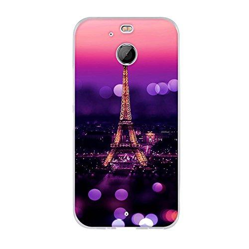 Fubaoda Hülle für HTC 10 EVO/HTC Bolt, Schöne Nacht des Eiffelturms,Langlebige Ultra Dünn Schutzhülle- Staub & Scratch- Stoßfest TPU Handyhülle für HTC 10 EVO/HTC Bolt(5.5
