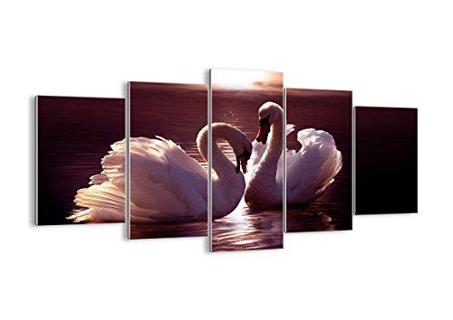 Quadro su vetro - cinque 5 tele - larghezza: 160cm, altezza: 85cm - numero dell'immagine 0223 - pronto da appendere - elementi multipli - Arte digitale - Moderno - Quadro in vetro - GEA160x85-0223