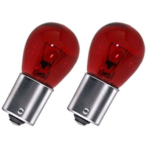 Preisvergleich Produktbild Akhan BA15S01R - PY21W Glühbirne Rot BA15S 12V 21W (gegenüber liegende Pins)