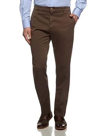 Tommy Hilfiger Tailored Herren Hose American-Chino-W PNTSLD99001, Einfarbig, Gr. 27, Braun (067)