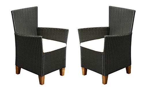Lounge-Sessel Inkl. bequemer Auflagen in Schwarz