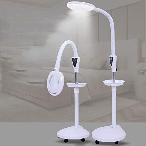 CYMIU 16X LED Vergrößerungslampe Kaltlicht Lupe Schönheit Tattoo Lampe Bewegliche Flaschenzug...