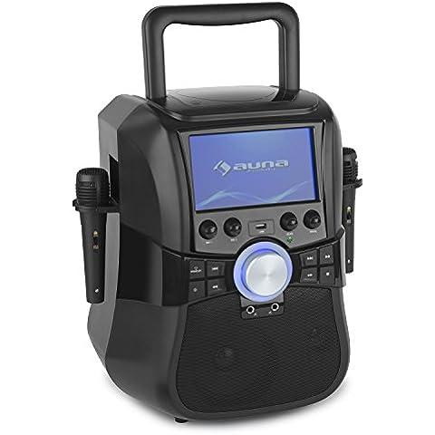 auna Stage Hero sistema de karaoke portátil (reproductor DVD, monitor TFT 7