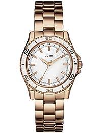 Guess Damen-Armbanduhr Analog Quarz Edelstahl W0557L2