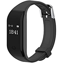 HAISSKY Pulsera Inteligente con Pulsómetro Pulsera Actividad con Contador de Calorias/ Monitor de Sueño/ Contador de Pasos/ Reloj Fitness Tracker Smartwatch para Android y iOS iPhone