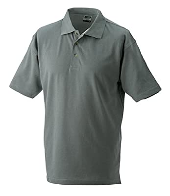Polo Piqué Medium, Dunkelgrau, XXXL