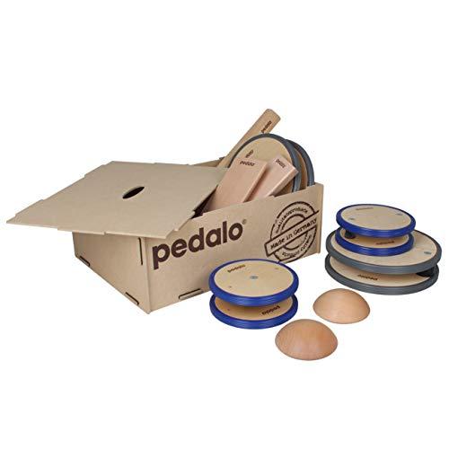 pedalo Balance-Box I Set I Balancier-Spiel I Balance-Pfad I Gleichgewichtstrainer I Kindergarten I Schule I Koordination I Kinder und Erwachsene