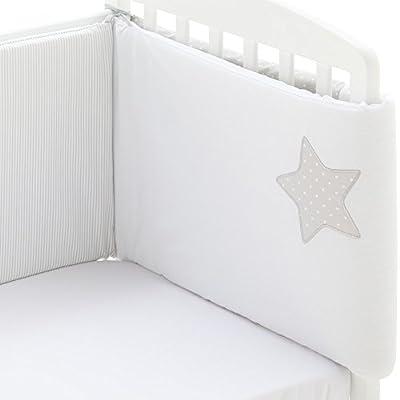 Edredón de cuna desenfundable + protector desenfundable + Cojín Stella, tamaño CUNA 60 x 120