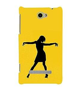 Fiobs Designer Back Case Cover for HTC Windows Phone 8S :: HTC 8S (Girl Dance Naach Gana Pose Mudra)