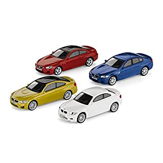 4er-Set Original BMW M Car Collection Miniatur 1:64 1er M Coupé M4 Coupé M5 M6 Coupé