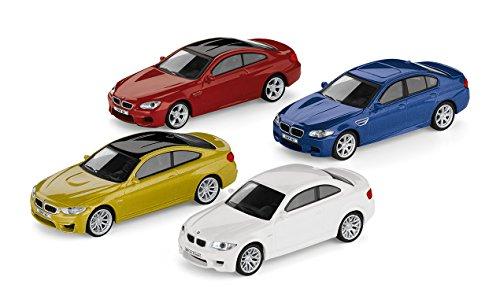 4er-Set Original BMW M Car Collection Miniatur 1:64 1er M Coupé M4 Coupé M5 M6 Coupé (Miniatur 1 64)