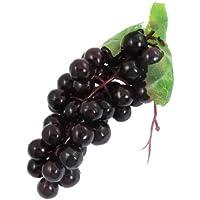 SODIAL(R) Uvas Fruta de Simulacion Plastico Blando Decoracion de Casa