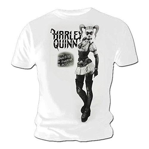Harley Quinn (Suicide Squad) - Asilo - Camiseta Oficial Hombre - Blanco, Large