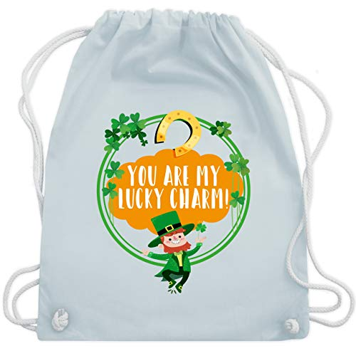 St. Patricks Day - You are my lucky charm! - Unisize - Pastell Blau - WM110 - Turnbeutel & Gym ()