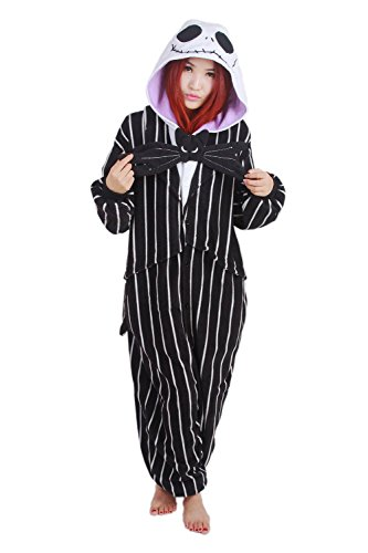 The Nightmare Before Christmas/Jack Skellington, als Pyjama oder Verkleidung verwendbar, für Erwachsene geeignet, Kigurumi-Stil X-Large (181-190 cm) (Nightmare Before Christmas Kostüme)