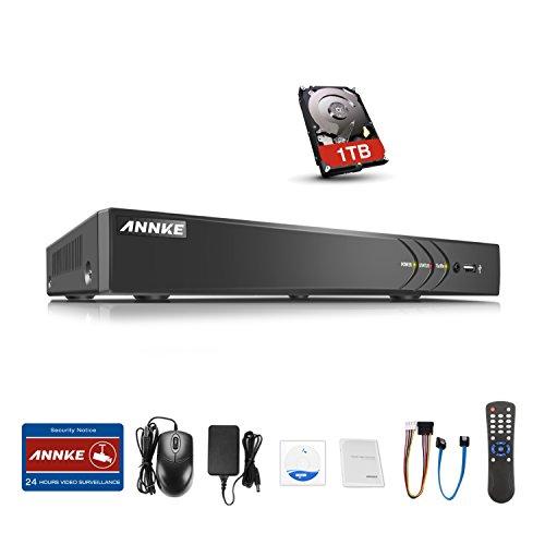 ANNKE CCTV TVI DVR Recorder Videoüberwachung 4CH 2.0MP Netzwerk Digital Video Recorder H.264 für Videoüberwachung Aufzeichnungsgerät Bewegungserkennung Fernüberwachung mit 1TB Festplatte