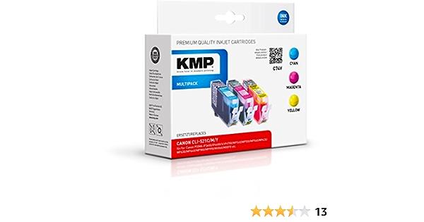 Kmp Multipack Für Canon Pixma Ip3600 Ip4600 C74v Dye Tinte Bürobedarf Schreibwaren