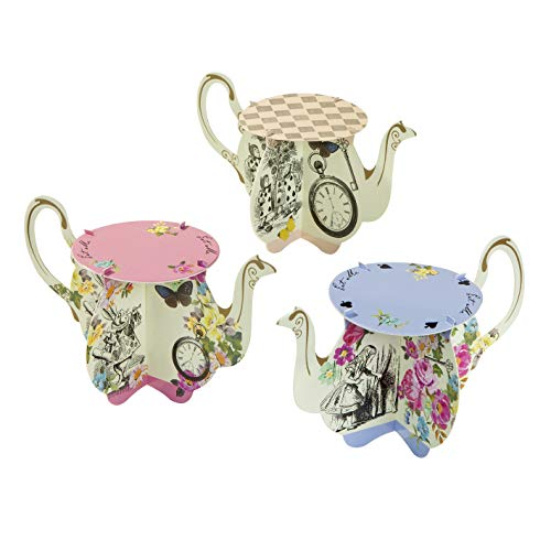 Truly Alice Teapot Cake Stands x 6 Alice in Wonderland Mad Hatters (Ideen Sweet Geburtstag 13 Party)