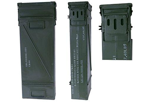 US munitions Boîte Taille 6Olive gebraucht 80,5x 28,5x 16,5Boîte à outils Métal