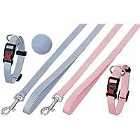 Karlie Puppy Set Halsband mit Leine - 15 mm x 20-40 cm + 15 mm x 120 cm, rosa