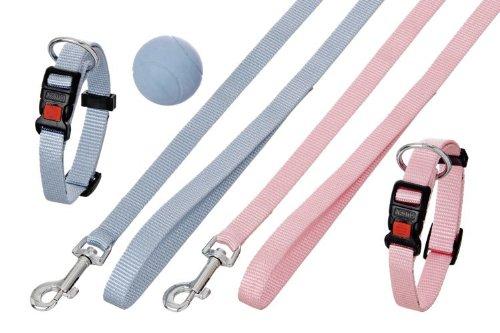 Karlie Puppy Set Halsband mit Leine - 15 mm x 20-40 cm + 15 mm x 120 cm, rosa - 15 Leinen