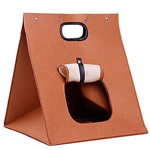 MAOSHE Kleine Haustier-Handtasche, tragbare Faltbare geöffnete Haustier-Fördermaschinen-Rucksack-Reise-Fördermaschinen-Taschen-Frontseite für das kleine Hundeträger-Fahrrad, das im Freien wandert -