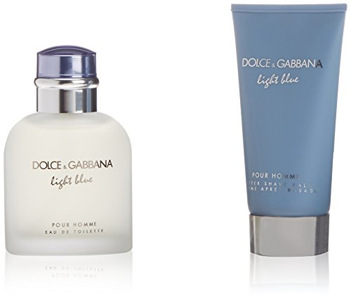 D&G Light Blue Pour Homme Kit di Regalo Acqua di Colonia, Balsamo Dopo Radere - 150 ml
