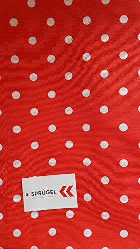 Sprügel Punkteglück - Polka Dot - Tischläufer - rot 50 x 150 cm 100% Baumwolle (Polka Dot Tischläufer)