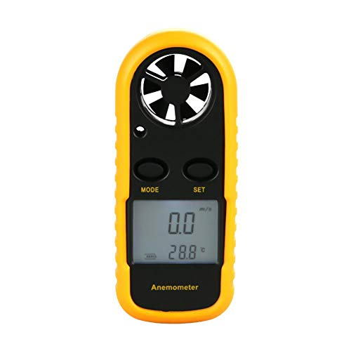 Digital Anemometer Tragbares Windgeschwindigkeitsmessgerät Luftdurchflussgeschwindigkeit Temperaturmessgerät Thermometer