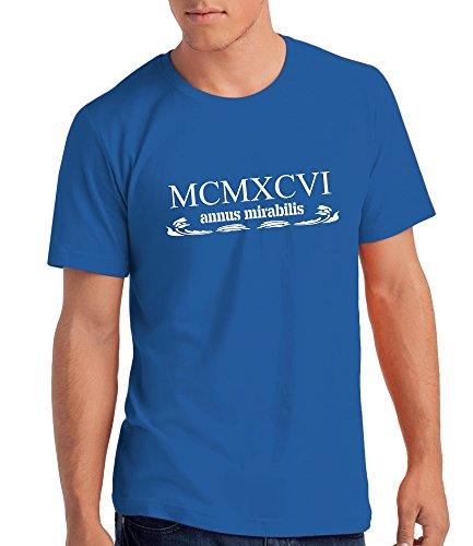 """""""Annus Mirabilis 1996"""" - Herren T-Shirt als Geschenk zum 21. Geburtstag mit Geburtsjahr in Römischen Zahle Königsblau"""