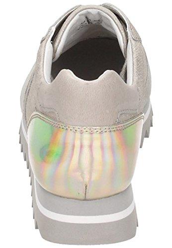 Gabor Sneaker, Caruso/Canvas/Vacc, visone/alpaca/platin, Best Fitting, Wechselfußbett 43.301.62 Viola