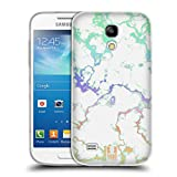 Head Case Designs Regenbogen Schimmerndes Marmor Soft Gel Hülle für Samsung Galaxy S4 Mini I9190