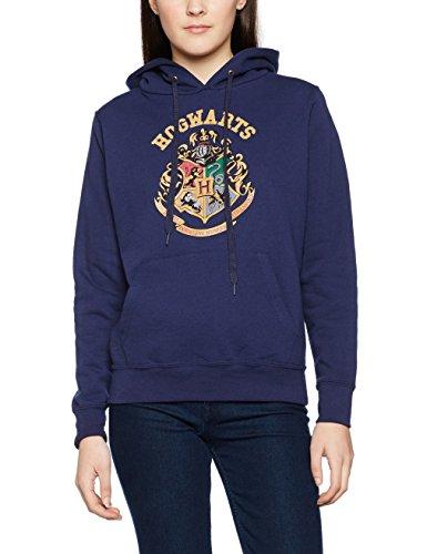 Plastic Head Harry Potter Crest Ghsw, Sweat-Shirt Femme Bleu - Bleu